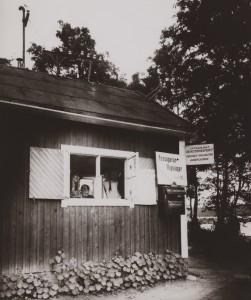 Biljettkur på Stockholm-Lindarängen under 1920-talet. Foto i SAS arkiv.